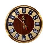 Старые часы с римскими цифрами стоковое фото