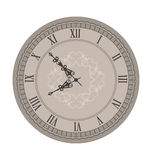 Старые часы с стрелками виньетки Стоковое Фото