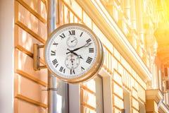 Старые часы улицы Стоковые Изображения
