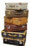 старые чемоданы кучи Стоковое фото RF
