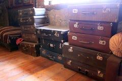 старые чемоданы Стоковое Фото