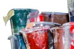 Старые чернила в пластичных опарниках Стоковая Фотография RF