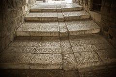 Старые шаги древнего города Стоковые Изображения