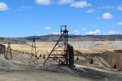 Старые шахты в Butte Монтане Стоковые Фотографии RF