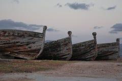 Старые шлюпки тунца Стоковая Фотография