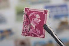 Старые штемпеля Бельгии Стоковое фото RF
