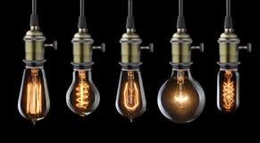 Старые электрические лампочки Стоковые Фото
