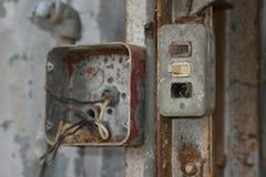 Старые электрические коробки Стоковые Фото
