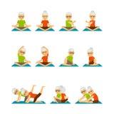 Старые люди значков йоги Стоковые Фото