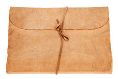 Старые дневник или книга фотоальбома изолированная на белой предпосылке Стоковое Изображение RF