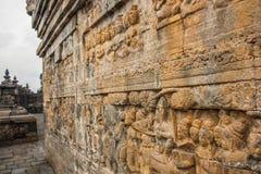 Старые carwings камня буддийского виска Стоковые Фотографии RF