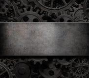 Старые cogs и шестерни испаряются панковская иллюстрация предпосылки 3d технологии иллюстрация штока