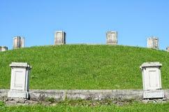 Старые colums руин Стоковые Фотографии RF