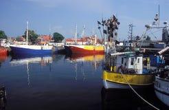 Старые fishboats в гавани Стоковое Фото