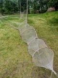 Старые fishnets в наследии паркуют в Kluki, Польше Стоковое Изображение RF
