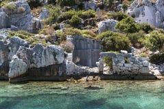 Старые lycian руины Стоковые Изображения RF