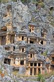 Старые lycian усыпальницы в Myra, Турции Стоковое Изображение