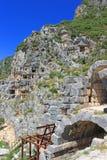 Старые lycian усыпальницы, Турция Стоковое Изображение