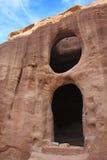 Старые nabatean руины в Petra Стоковые Фото