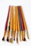 Старые Paintbrushes 3 Стоковое Изображение