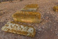 Старые sepulchral памятники Стоковые Изображения