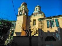 Старые Steeples в церков в Корфу Стоковое Фото