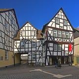 Старые timbered дома Стоковые Изображения RF