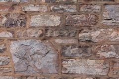 Старые wheathered камень и brickwall стоковое фото rf