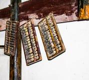 Старый абакус Китая стоковая фотография rf
