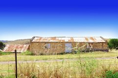 Старый австралийский сельский дом страны, южная Австралия Стоковая Фотография RF