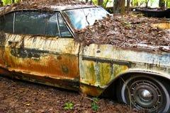 Старый автомобиль утиля стоковое изображение rf