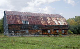 Старый амбар в Канаде Стоковые Фото