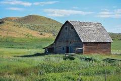 Старый амбар в ландшафте Колорадо Стоковые Фотографии RF