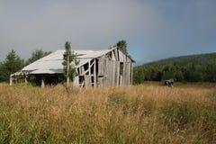 Старый амбар в поле Стоковая Фотография