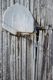 Старый амбар, старый обруч Стоковые Изображения