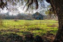 Старый амбар Техаса на ферме Стоковая Фотография RF