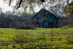 Старый амбар Техаса на ферме Стоковые Изображения RF