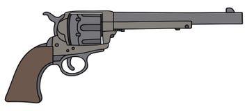 Старый американский револьвер Стоковая Фотография