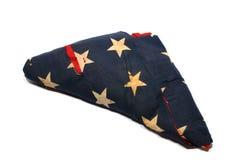 Старый американский флаг Стоковое Изображение