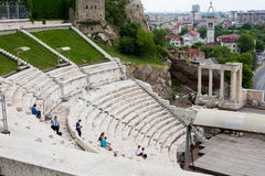 Старый амфитеатр в Пловдиве, Болгарии Стоковое Изображение