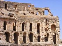 Старый амфитеатр в El Jem, Тунисе, Северной Африке стоковое изображение
