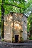Старый античный дом льда в парке замка в Pszczyna Стоковые Фотографии RF