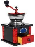 Старый античный деревянный черный и красный механизм настройки радиопеленгатора Стоковая Фотография