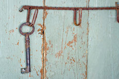 Старый античный ключ Стоковое Изображение