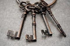 Старый античный ключ Стоковые Фотографии RF