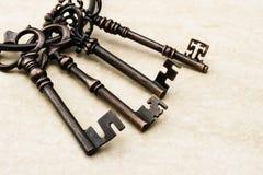 Старый античный ключ Стоковые Фото