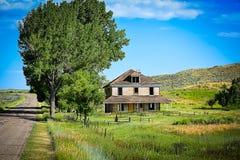 Старый ландшафт дома Стоковое Изображение