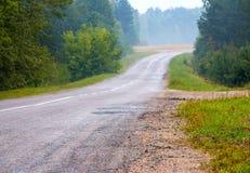 Старый ландшафт дороги деревни Стоковые Изображения RF