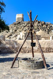 Старый арабский колодец около Al Bidyah мечети Стоковые Изображения RF