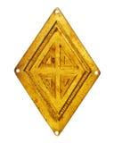 Старый латунный косоугольник Стоковое Изображение